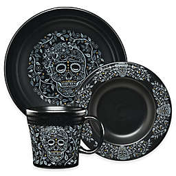 Fiesta® Skull and Vine Dinnerware Collection in Black