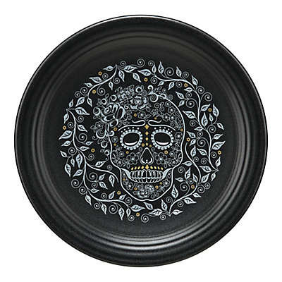 Fiesta® Skull and Vine Chop Plate in Black