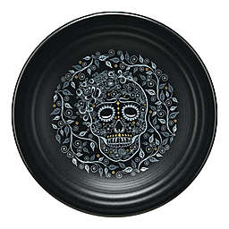 Fiesta® Skull and Vine Luncheon Plate in Black