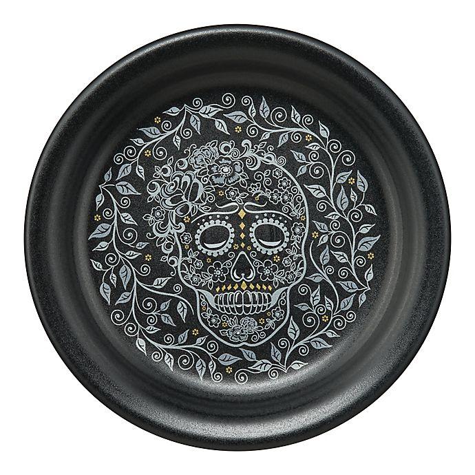 Alternate image 1 for Fiesta® Skull and Vine Appetizer Plate in Black
