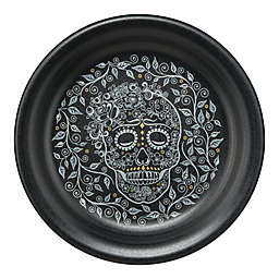 Fiesta® Skull and Vine Appetizer Plate in Black