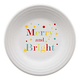 "Fiesta® ""Merry and Bright"" Luncheon Plate in White"