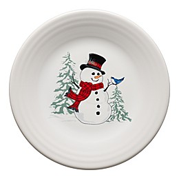 Fiesta® Snowman Luncheon Plate in White