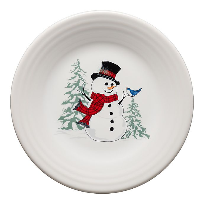 Alternate image 1 for Fiesta® Snowman Luncheon Plate in White