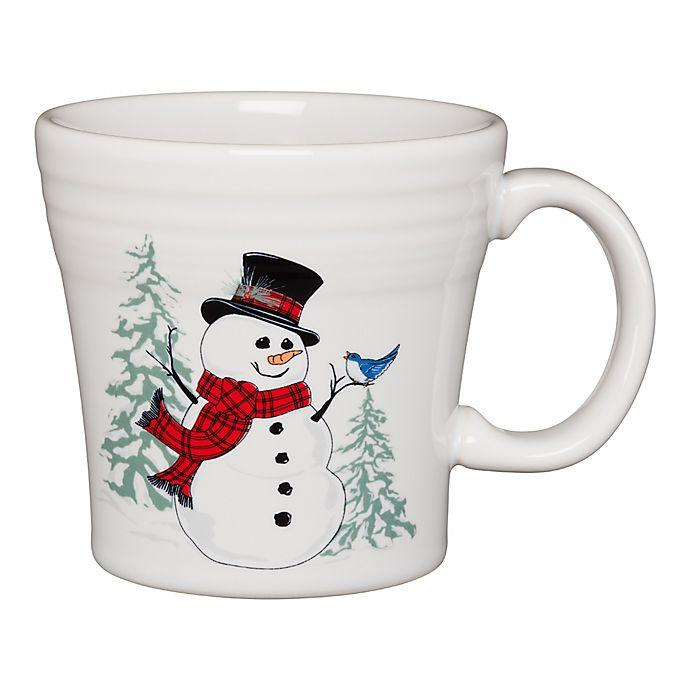 Alternate image 1 for Fiesta® Snowman Tapered Mug in White
