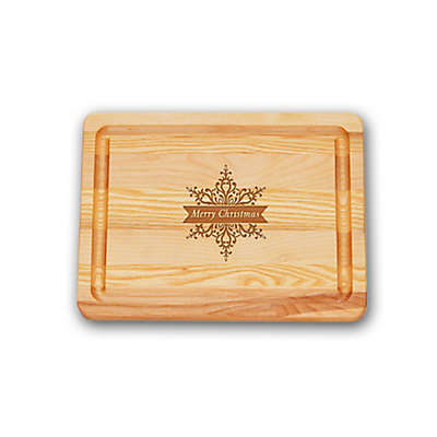 "Carved Solutions Master Collection ""Merry Christmas"" Star 10-Inch  x 7-1/2 Inch Cutting Board"