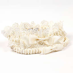 Cathy's Concepts Eleanor Lace 2-Piece Wedding Garter Set in Ivory