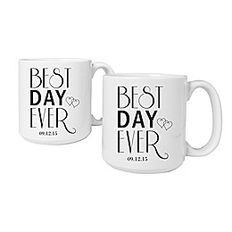 "Cathy's Concepts ""Best Day Ever"" Coffee Mugs (Set of 2)"