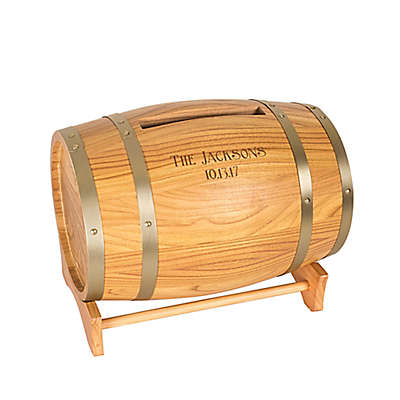 Cathy's Concepts Wine Barrel Reception Gift Card Holder