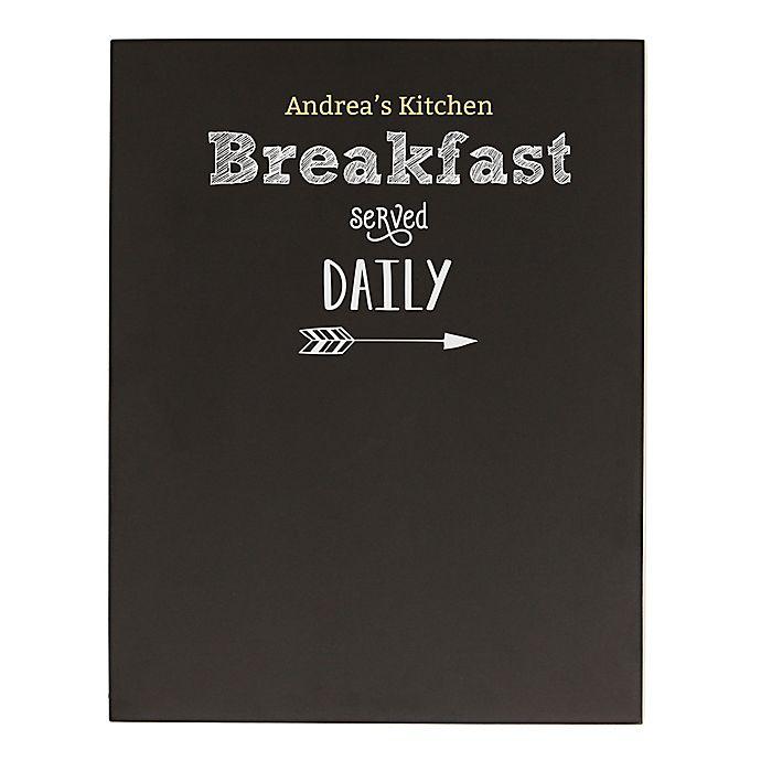 Alternate image 1 for Cathy's Concepts Breakfast Menu Chalkboard Wall Art