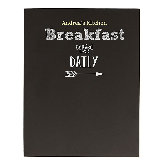 Alternate image 1 for Cathy's Concepts Breakfast Menu Chalkboard Wall Art