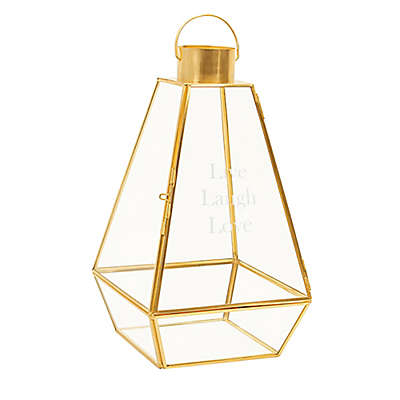 Cathy's Concepts Metal Lantern in Gold