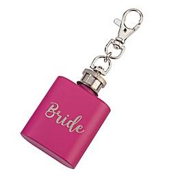 "Lillian Rose™ ""Bride"" Mini Flask in Pink/Silver"