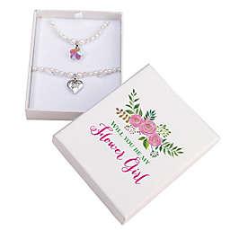 Lillian Rose™ Flower Girl Necklace and Bracelet Set