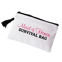 Lillian Rose™ Maid of Honor Wedding Day Survival Bag in White