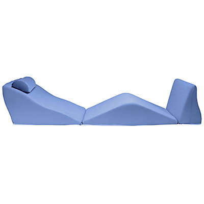 Contour® BackMax Body Pillow Wedge Cushion Set in Blue