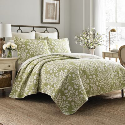 laura ashley rowland quilt set bed bath beyond. Black Bedroom Furniture Sets. Home Design Ideas