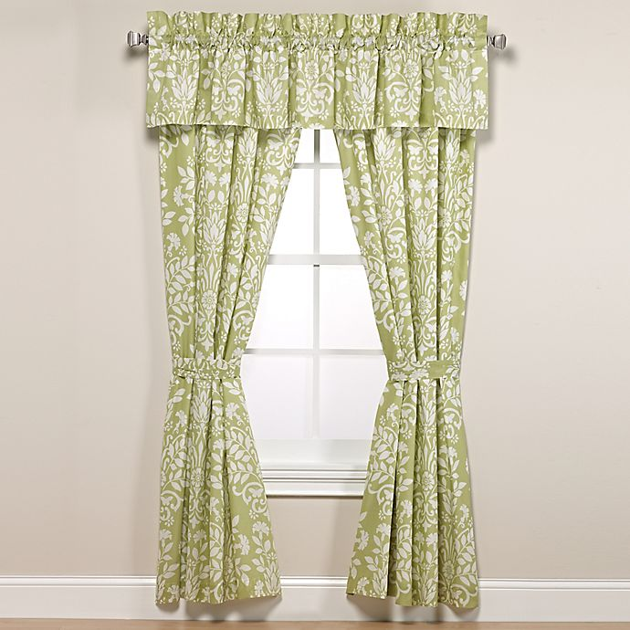 Alternate image 1 for Laura Ashley® Rowland Window Curtain Panels and Valance