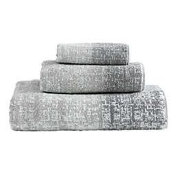 DKNY Crossway Bath Towel Ensemble in Silver