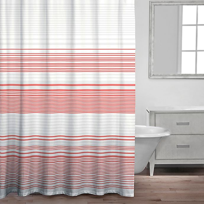 Caro Home Bimini Shower Curtain In Coral