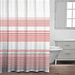 Caro Home Bimini Shower Curtain In Coral