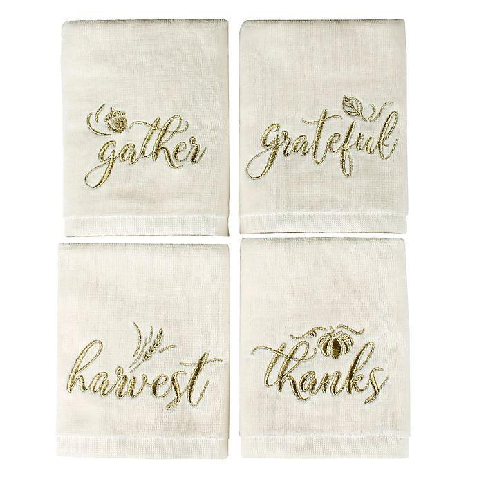 Alternate image 1 for Saturday Knight Harvest Inspirations Fingertip Towels (Set of 4)