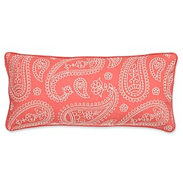 Levtex Home Araya Paisley Oblong Throw Pillow in Coral