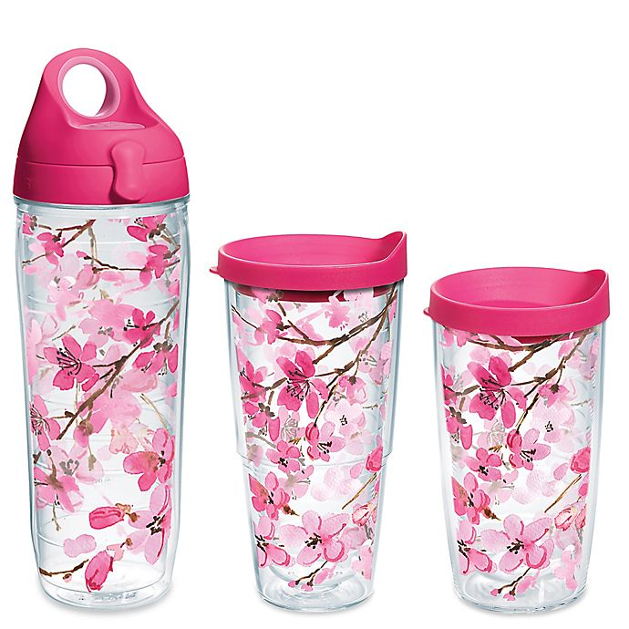 Alternate image 1 for Tervis® Japanese Cherry Blossom  Wrap Tumbler with Lid