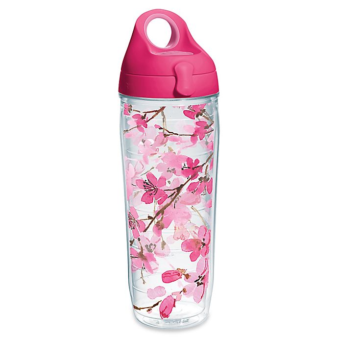 Alternate image 1 for Tervis® Japanese Cherry Blossom  24 oz. Wrap Water Bottle with Lid