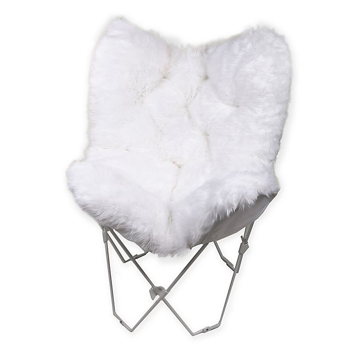 Alternate image 1 for Faux Fur Butterfly Chair