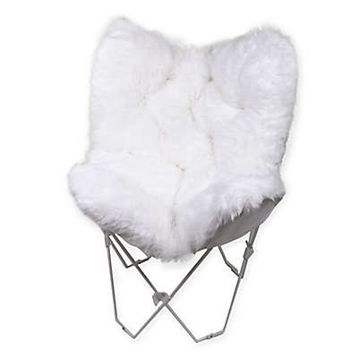 Faux Fur Butterfly Chair