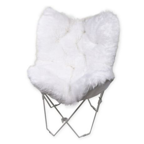 Fabulous Faux Fur Butterfly Chair Bed Bath Beyond Spiritservingveterans Wood Chair Design Ideas Spiritservingveteransorg