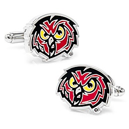 Temple University Silver-Plated and Enamel Mascot Cufflinks