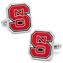 North Carolina State University Silver-Plated and Enamel Cufflinks