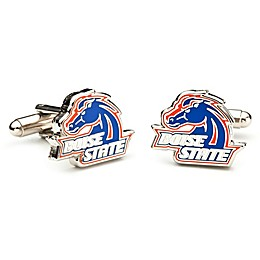 Boise State University Silver-Plated and Enamel Mascot Cufflinks