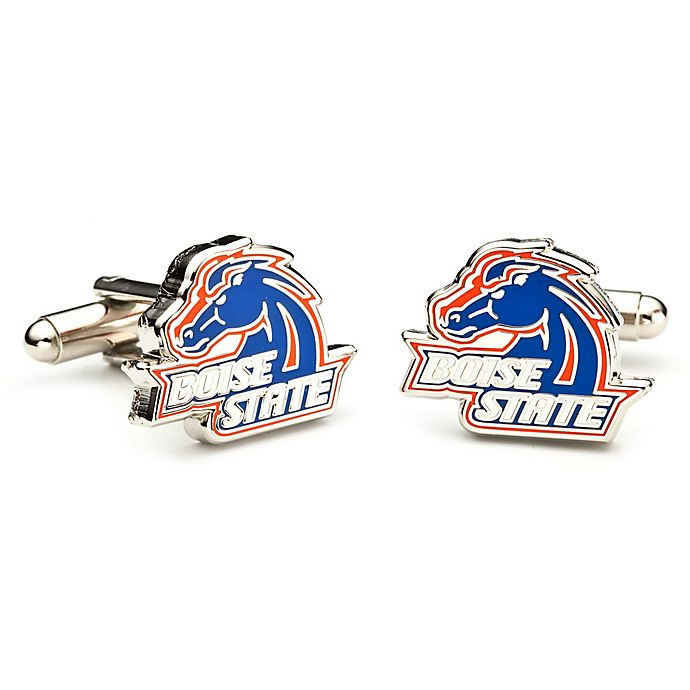 Alternate image 1 for Boise State University Silver-Plated and Enamel Mascot Cufflinks