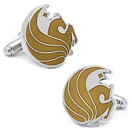University of Central Florida Silver-Plated and Enamel Mascot Cufflinks
