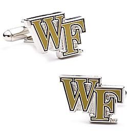 Wake Forest University Silver-Plated and Enamel Team Logo Cufflinks