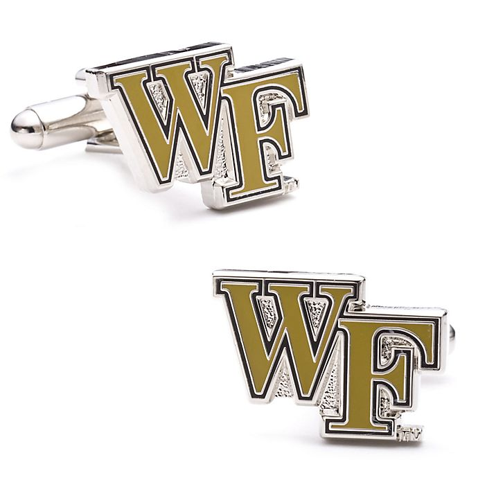 Alternate image 1 for Wake Forest University Silver-Plated and Enamel Team Logo Cufflinks