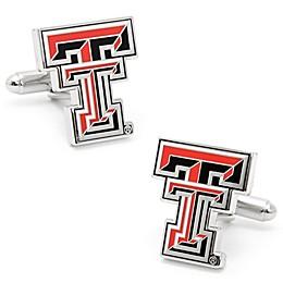 Texas Tech University Silver-Plated and Enamel Team Logo Cufflinks