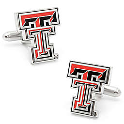 Texas Tech University Silver-Plated and Enamel Cufflinks