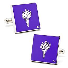 NYU Silver-Plated and Enamel Team Logo Cufflinks