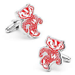 University of Wisconsin Mascot Silver-Plated and Enamel Cufflinks