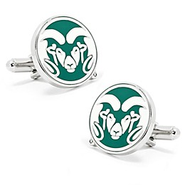 Colorado State University Silver-Plated and Enamel Mascot Cufflinks