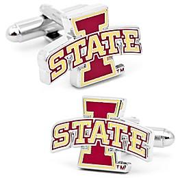 Iowa Sate University Silver-Plated and Enamel Team Logo Cufflinks