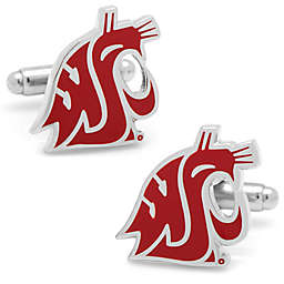 Washington State University Silver-Plated and Enamel Mascot Cufflinks