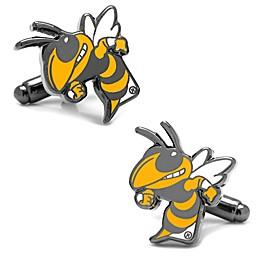 Georgia Tech University Silver-Plated and Enamel Vintage Mascot Cufflinks