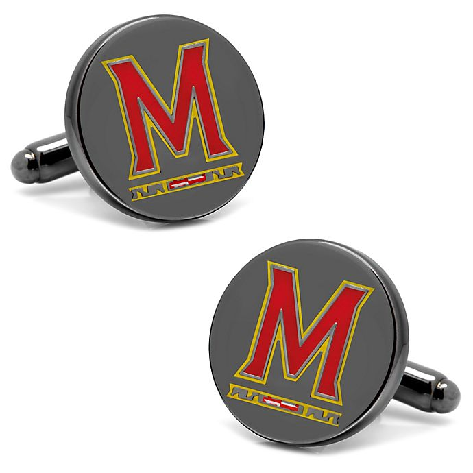 Alternate image 1 for University of Maryland Silver-Plated and Enamel Team Logo Cufflinks