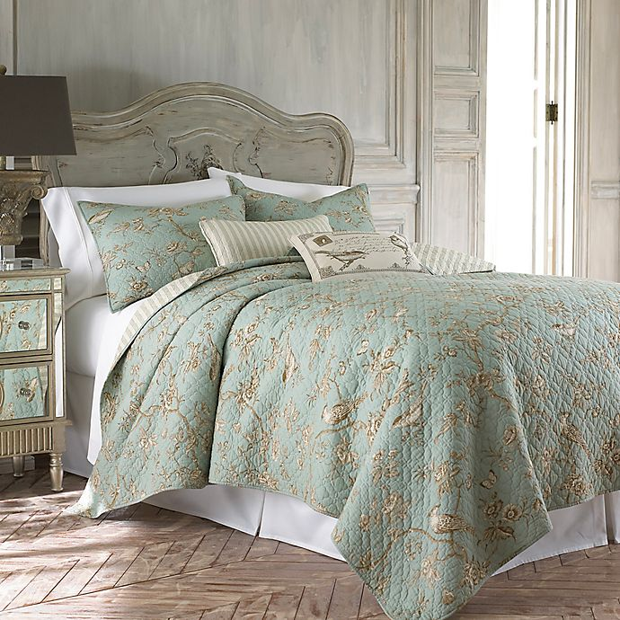 Alternate image 1 for Levtex Home Layn Reversible Twin Quilt Set in Teal