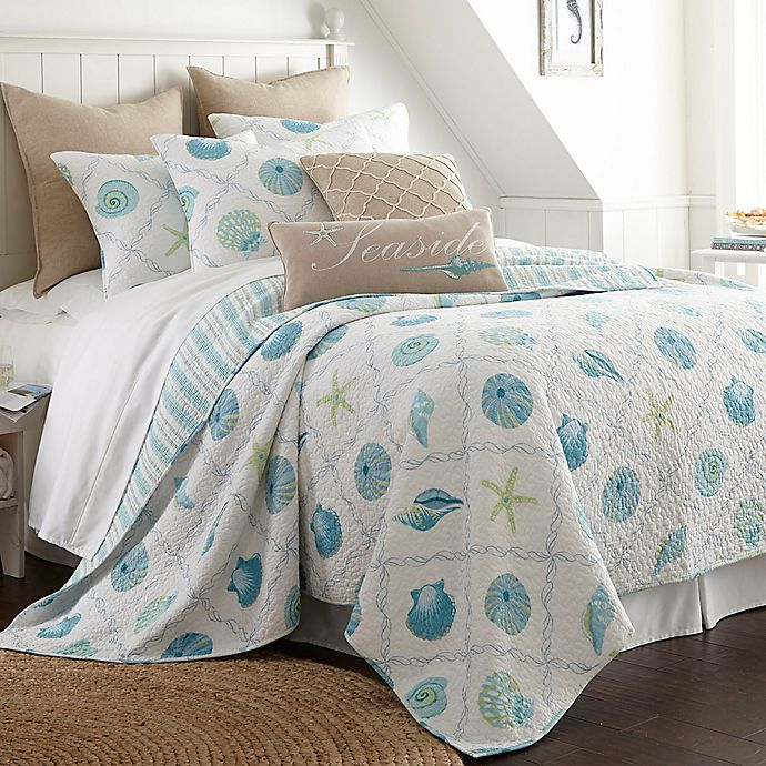 Alternate image 1 for Levtex Home Seaglass Reversible Twin Quilt Set in Blue